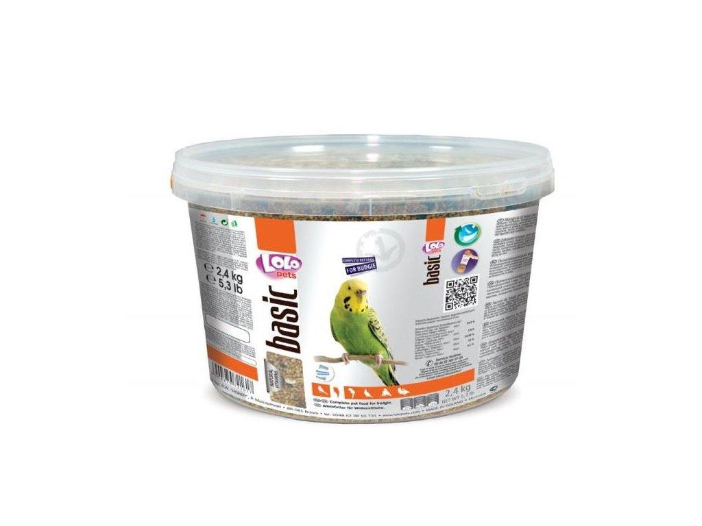 LOLO BASIC kompletní krmivo pro andulky 3L/2,4kg kyblík