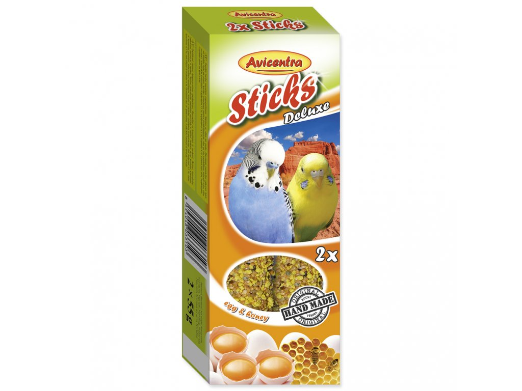 AVICENTRA tyčinky pro andulky - vejce + med 2ks