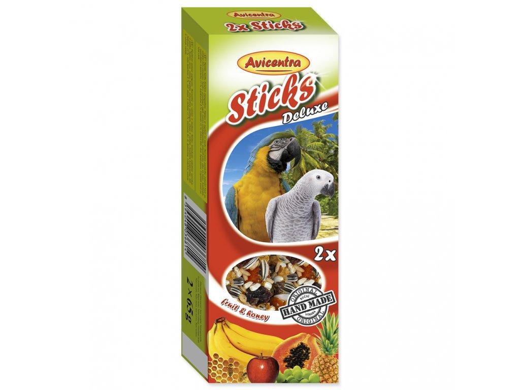 Avicentra Tyčinky pro velké papoušky - Ovoce + med 2ks