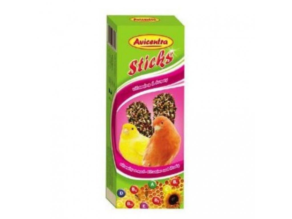 AVICENTRA tyčinky pro kanárky - vitamín + med 2ks