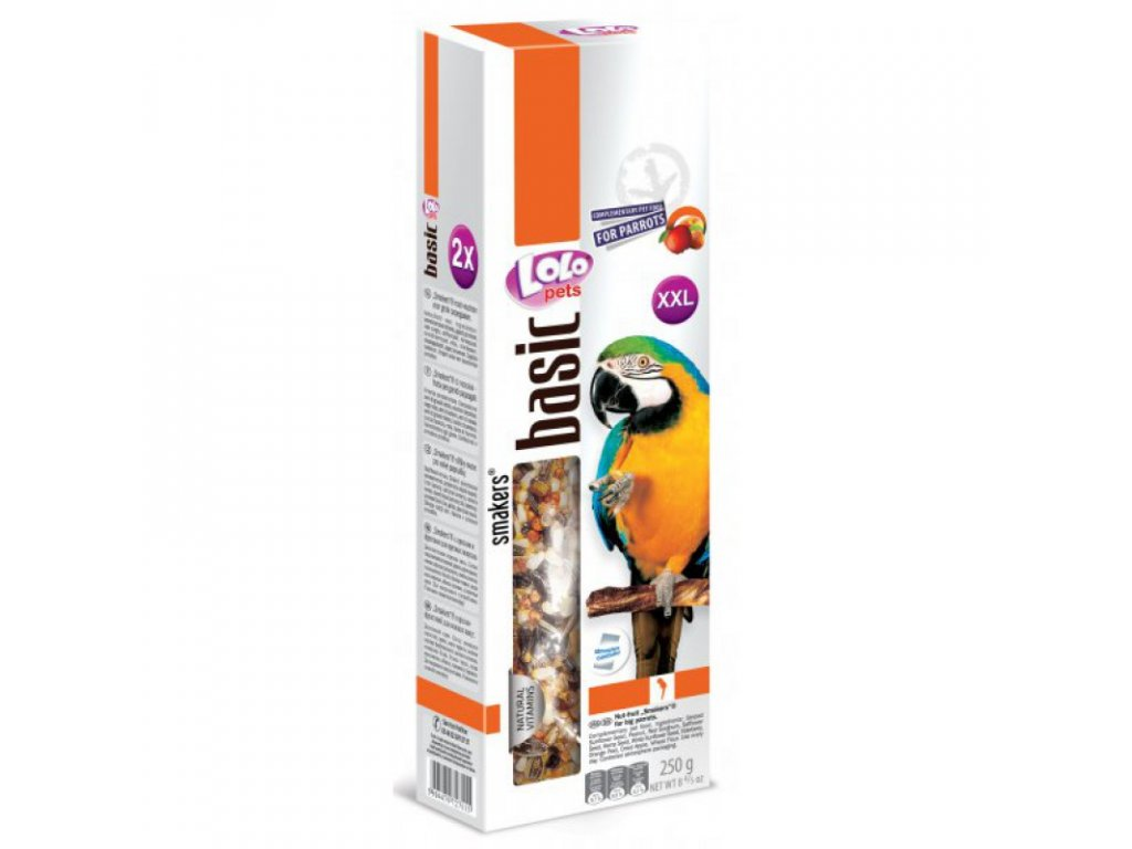 LOLO SMAKERS XXL 2 klasy ořech-ovoce pro velké papoušky 250g