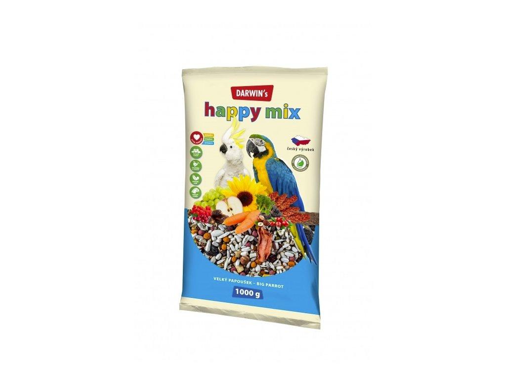 Darwin's Velký Papoušek Happy mix 1kg  sleva 2% při registraci