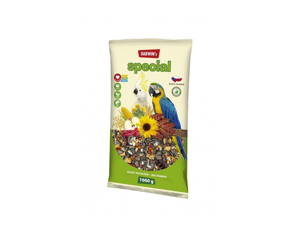 Darwin's Velký Papoušek Special 1kg  sleva 2% při registraci