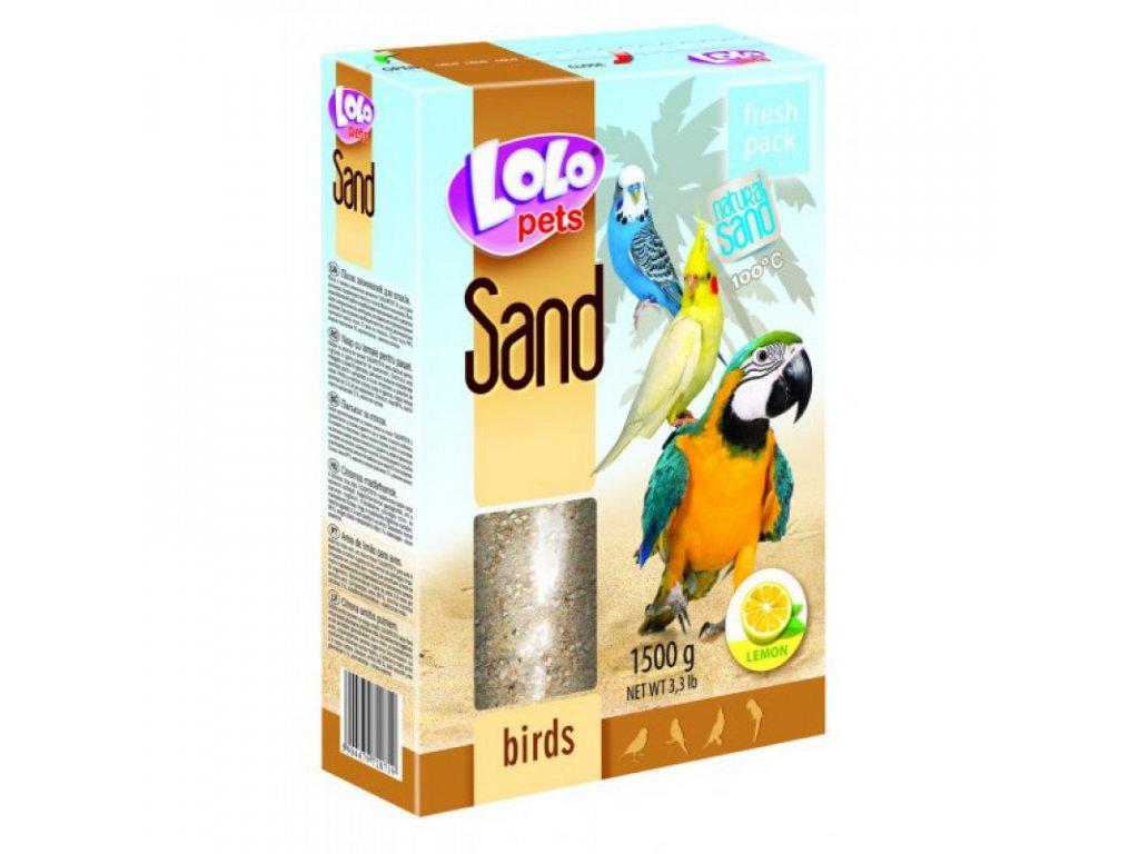 LOLOpets citronový písek pro ptáky 1500 g