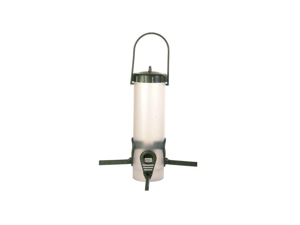 Zahradní závěsné automatické krmítko 4 otvory 450ml/23cm