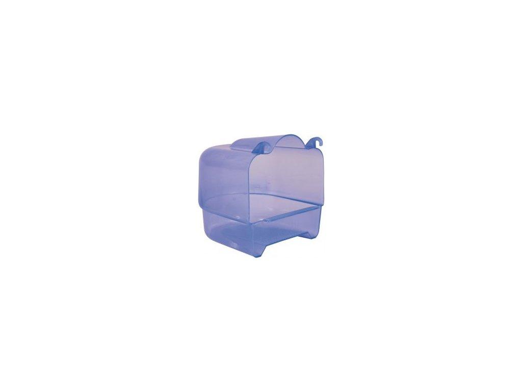 Plastová koupelna půlkruhová transparentní 15x16x17 cm