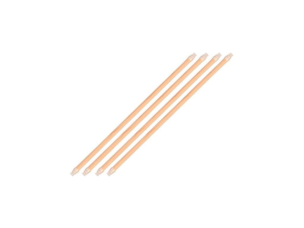 Dřevěná bidla s plastovým úchytem do klece 35cm/12mm /4ks/