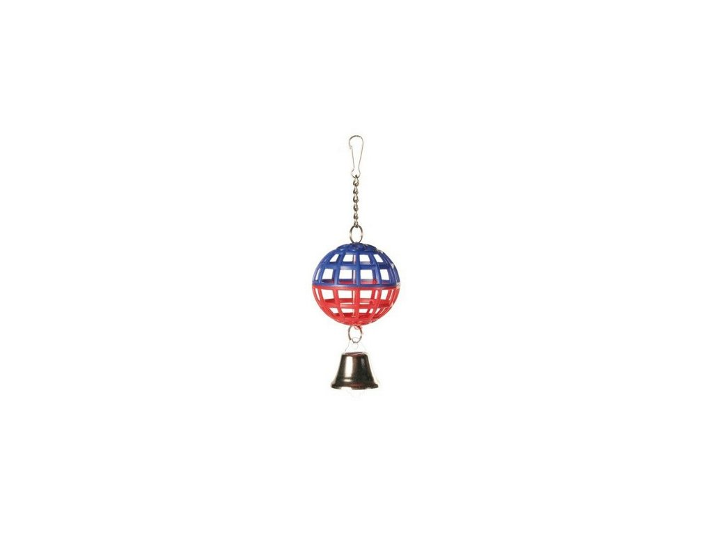 Závěsná koule na řetízku se zvonečkem 7cm