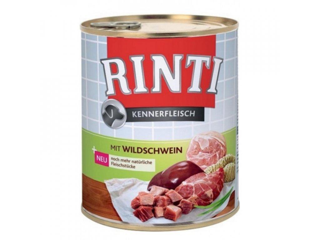 Rinti Dog Kennerfleisch konzerva divočák 800g