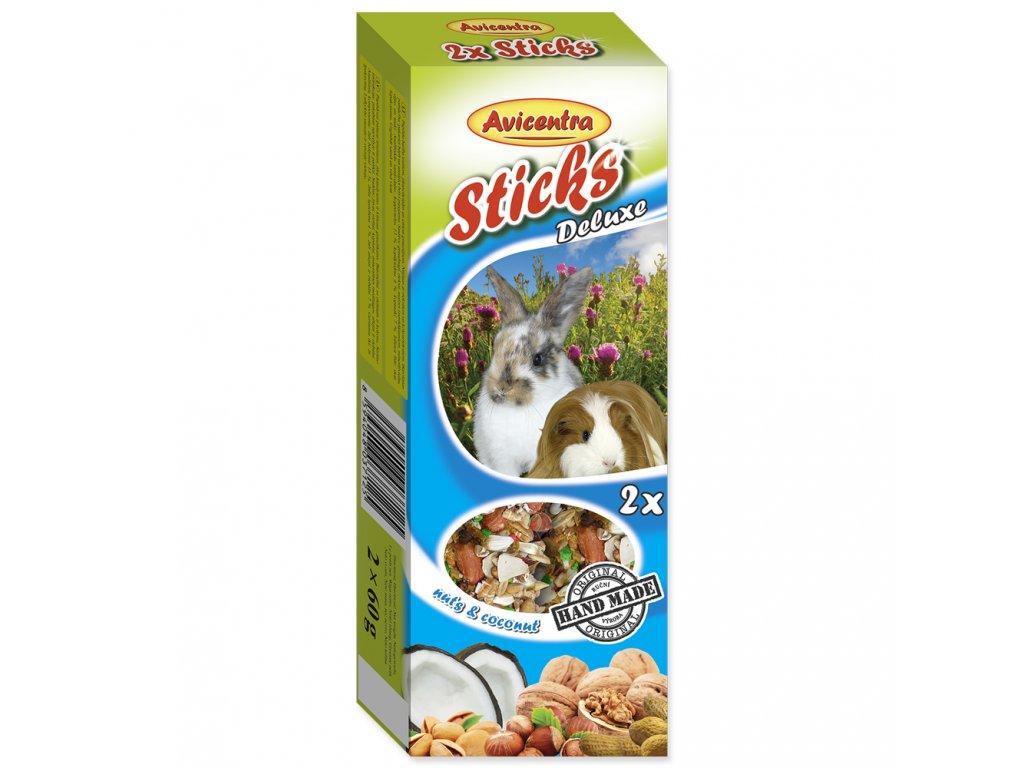 Avicentra Tyčinky pro velké hlodavce - Ořech + med + kokos 2ks