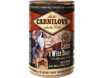 CARNILOVE DOG WILD MEAT LAMB & WILD BOAR 400 G
