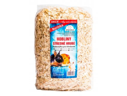 Hoblinová středně hrubá podestýlka  40l/1kg