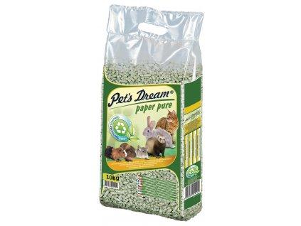 Pelety JRS Pet`s Dream Paper Pure - papírová podestýlka 20 l (10 kg)