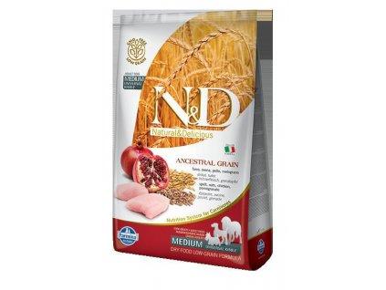 N&D LG DOG Adult M/L Chicken & Pomegranate  sleva 2% při registraci