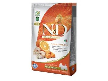 N&D GF Pumpkin DOG Adult Mini Codfish & Orange  sleva 2% při registraci