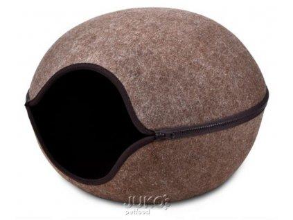 Kukaň-Pelíšek variabil-vchod střed 46x46x32.5cm-Hnědá
