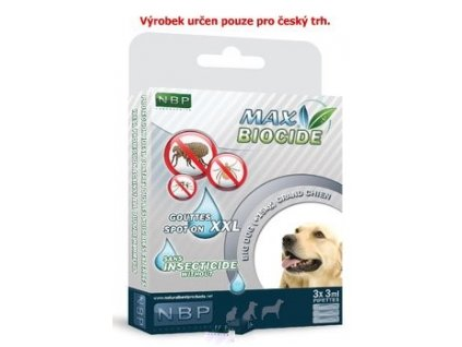 Max Biocide Spot-on Dog 3x3ml-XXL