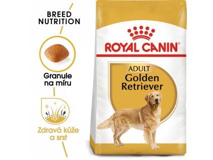 ROYAL CANIN Golden Retriever Adult granule pro dospělého zlatého retrívra  Golden Retriever Adult granule pro dospělého zlatého retrívra