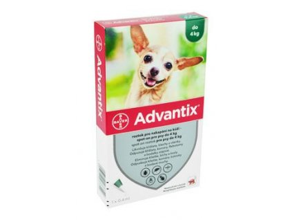 Advantix Spot On 1x0,4ml pro psy do 4kg (1 pipeta)