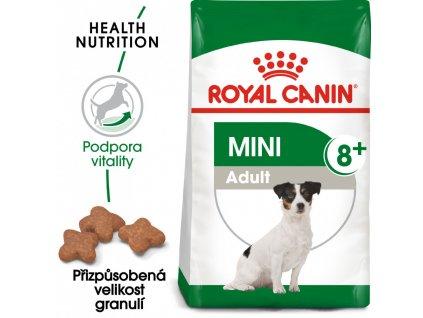 ROYAL CANIN Mini Adult 8+ granule pro stárnoucí malé psy  granule pro stárnoucí malé psy