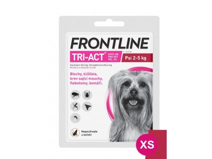 FRONTLINE TRI-ACT SPOT ON DOG XS (2-5 KG) 1x0,5 ML