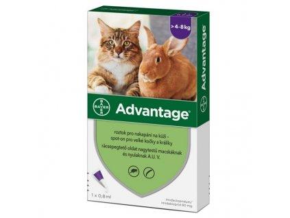 ADVANTAGE 80 10% pro kočky a králíky nad 4 kg 1x0,8ml