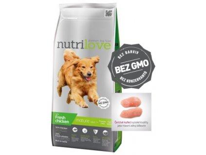 Nutrilove pes granule MATURE SENIOR fresh kuřecí 3kg
