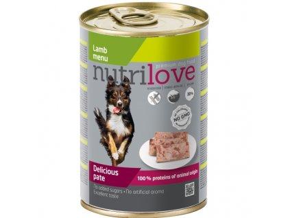 Nutrilove Dog paté konzerva Jehněčí 400 g