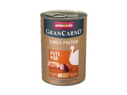 GRANCARNO Single Protein 400 g čisté krůtí, konzerva pro psy  + výhodné balení