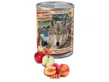 Natural Greatness králík,kachna,jablka,broskve pro psy 400 g