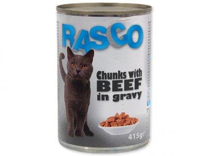 Konzerva RASCO Cat hovězí kousky ve šťávě (415g)