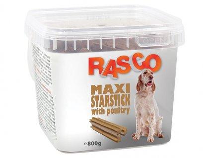 Pochoutka RASCO Dog hvězdy natural s drůbeží (800g)