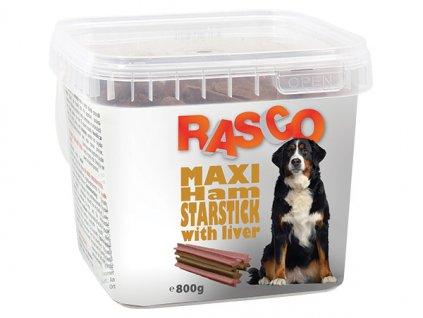 Pochoutka RASCO Dog hvězdy šunkové s játry (800g)