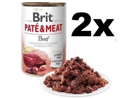 BRIT Paté & Meat Beef 2x 400g + Chicken 2x 400g