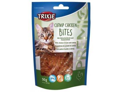 Premio CATNIP CHICKEN BITES kuřecí kousky s catnipem 50 g