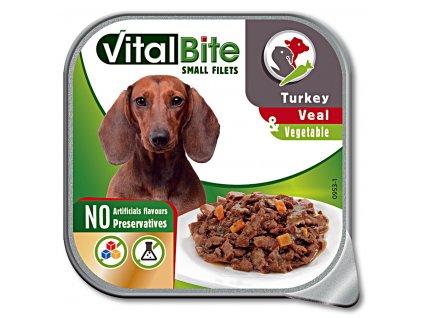 VitalBite vanička masové ragou s telecím, krůtím a zeleninou 150g