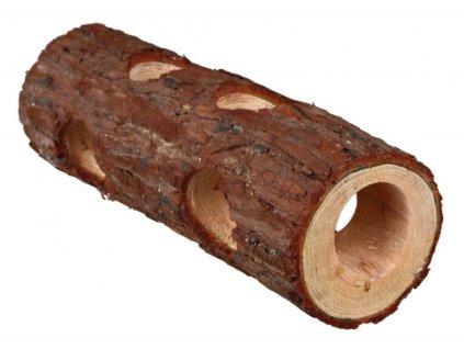 Dřevěný tunel přírodní dřevo pro hlodavce 6 x 20 cm