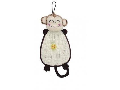 Škrábadlo/Opice k zavěšení s hračkou 52x24cm
