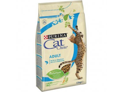 PURINA cat chow ADULT losos+tuňák 1,5kg