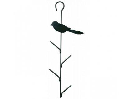 Závěsný držák na 4 lojové koule s ptáčkem, kovový