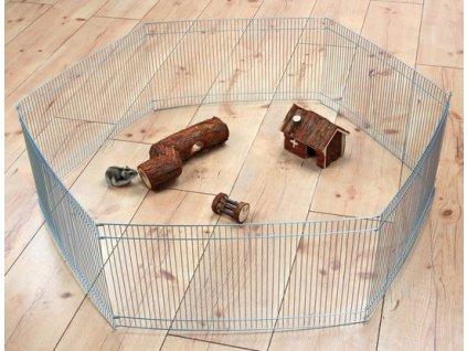 Pozinkovaná ohrádka pro myši a křečky 6 dílů 48 x 25 cm