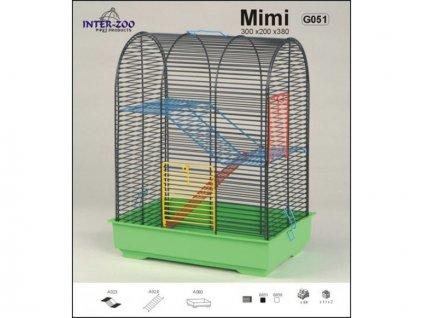 Klec pro hlodavce MIMI MOUSE - pro myši a drobné hlodavce 30x20x38 cm
