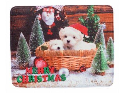 Vánoční plyšová podložka 50 x 40 cm