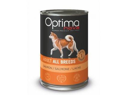 Optimanova Dog Salmon Grain free 400g-konzerva  sleva 2% při registraci