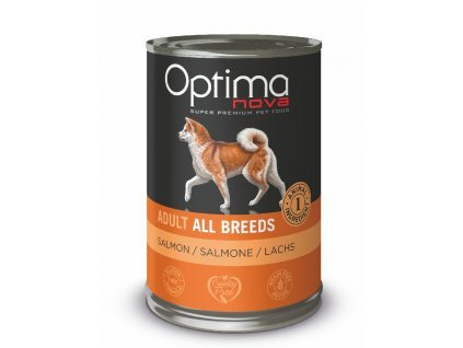 Optimanova Dog Salmon Grain free 400g-konzerva