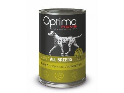 Optimanova Dog Rabbit Grain free 400g-konzerva
