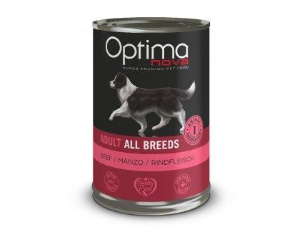 Optimanova Dog Beef 400g-konzerva  sleva 2% při registraci