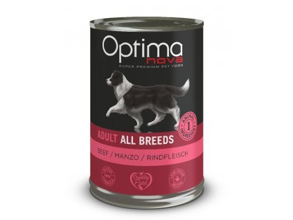 Optimanova Dog Beef 400g-konzerva