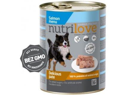 Nutrilove Dog paté konzerva Losos 800 g