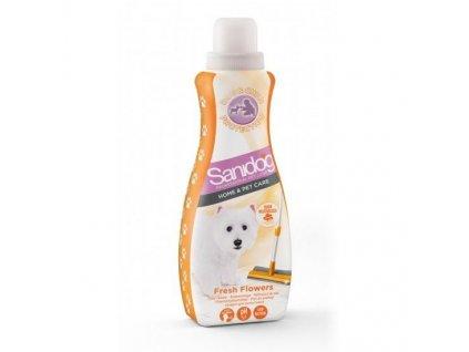 SANIDOG podlahový čistič Fresh Flower 1 l  čistící antibakteriální prostředek do domácnosti se zvířaty